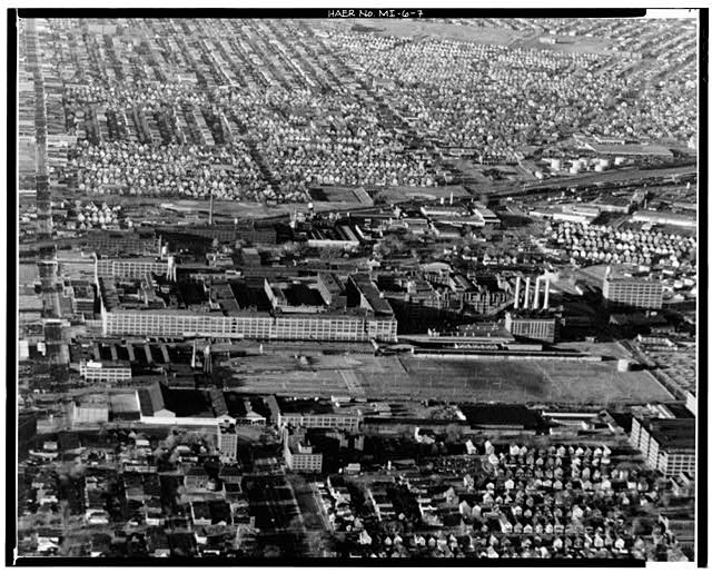 Dodge Hamtramck Plant Aerial View 1980