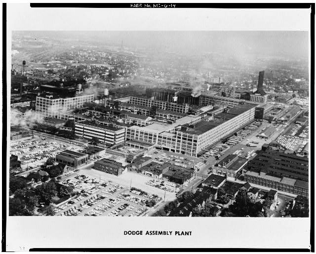 Dodge Hamtramck Plant AERIAL VIEW NORTHEAST 1961