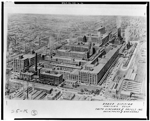Dodge Hamtramck Plant Aerial View 1928