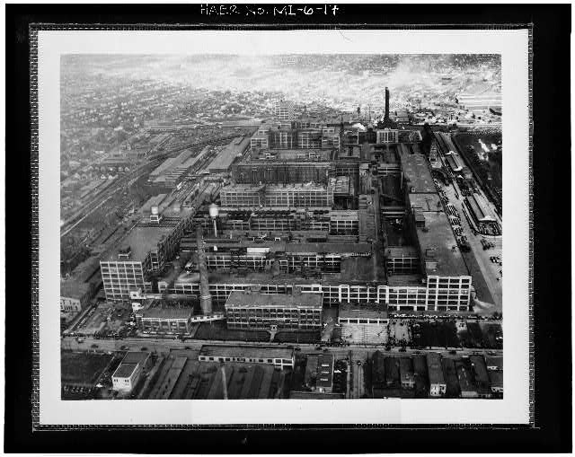 Dodge Hamtramck Plant Aerial View 1937