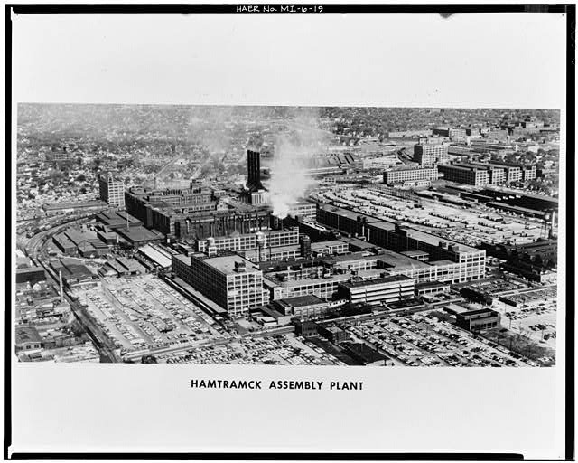 Dodge Hamtramck Plant Aerial View East 1965