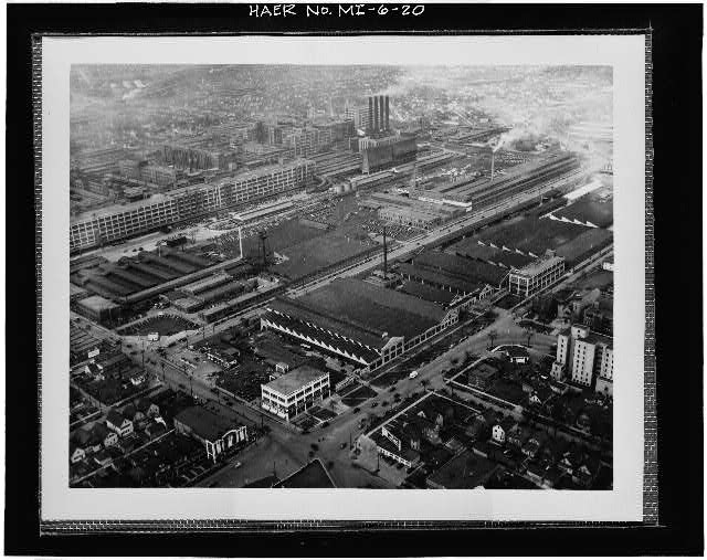 Dodge Hamtramck Plant Aerial View SouthEast 1937
