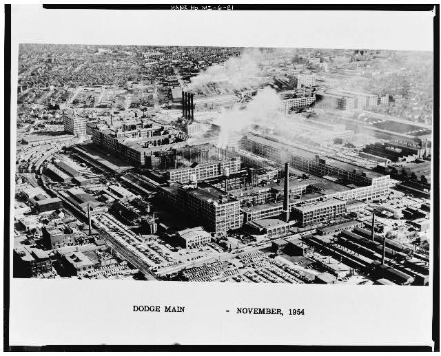 Dodge Hamtramck Plant Aerial View SouthEast 1954