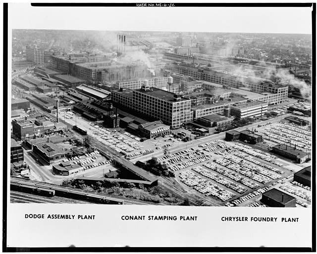 Dodge Hamtramck Plant Aerial View Southeast 1962