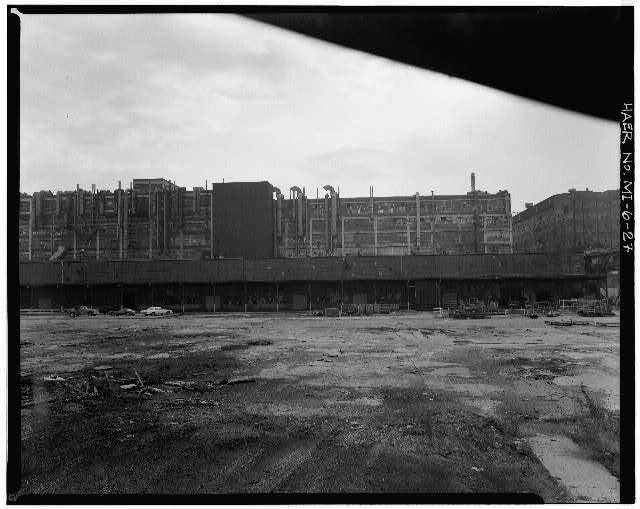 Dodge Hamtramck Factory PANORAMA OF NORTH BROADWAY, 1980