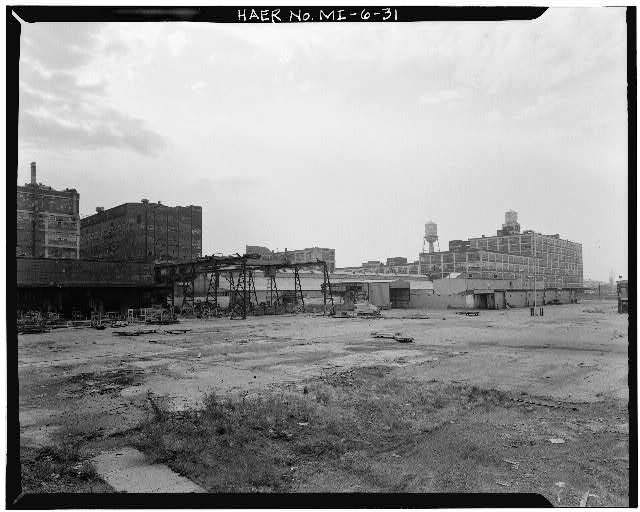 Dodge Hamtramck Plant PANORAMA OF NORTHWEST BOUNDARY, 1980