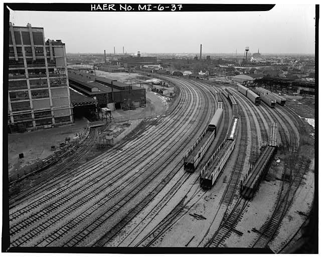 Dodge Hamtramck Plant RAILYARD FROM CONSTRUCTION BUILDING, 1980