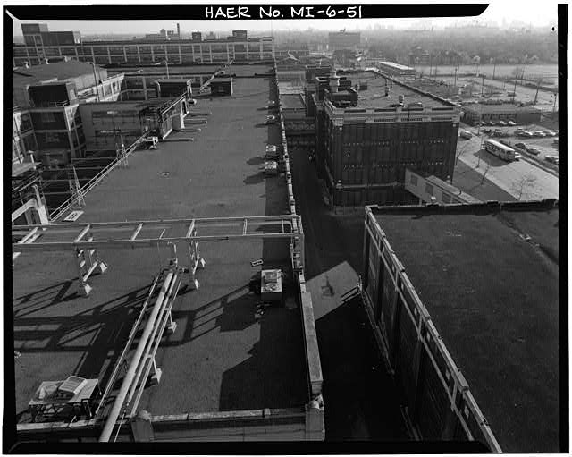 Dodge Hamtramck Plant ROOFTOP OF OFFICE AND MAIN BUILDING #1, 1980
