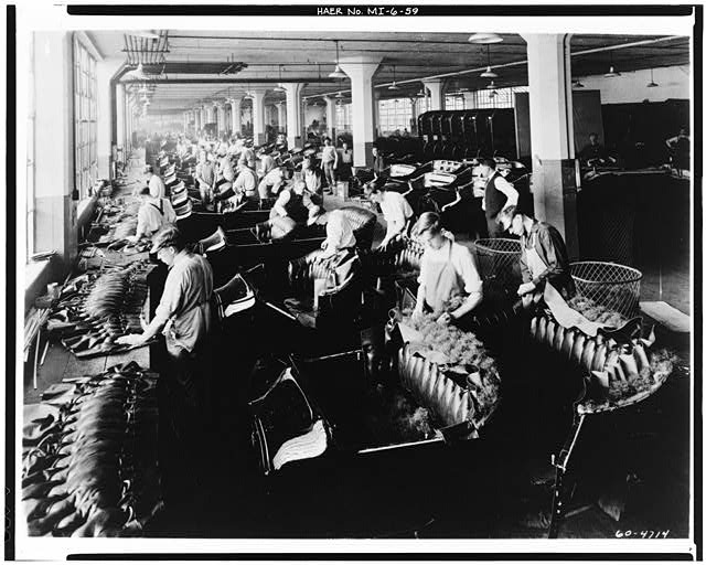Dodge Hamtramck Plant ASSEMBLING BUILDING #1, UPHOLSTERY DEPT, VIEW WEST 1915