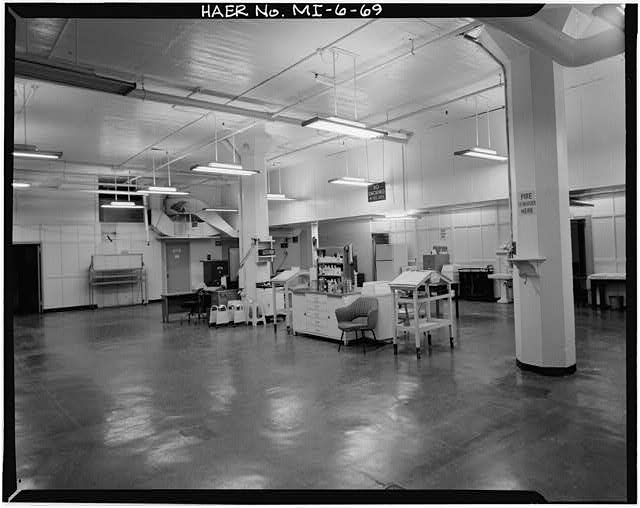 Dodge Hamtramck Plant ASSEMBLING BUILDING #1, MEDICAL DEPT., FIRST FLOOR, 1980