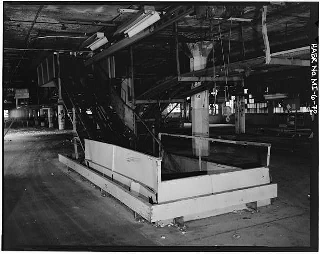 Dodge Hamtramck Plant ASSEMBLING BUILDING #1, FOURTH FLOOR, 1980