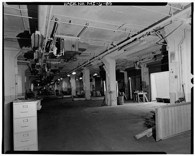 Dodge Hamtramck Plant ASSEMBLING BUILDING #2, FIRST FLOOR LOADING DOCK, 1980