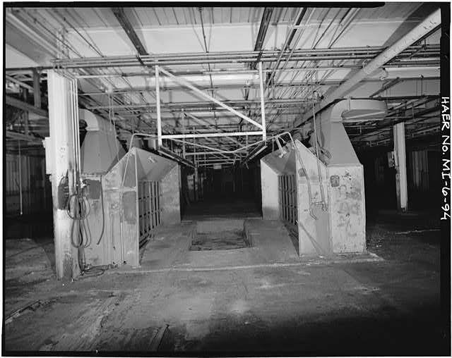 Dodge Hamtramck Plant BODY BUILDING, FIRST FLOOR, VIEW NORTH, 1980