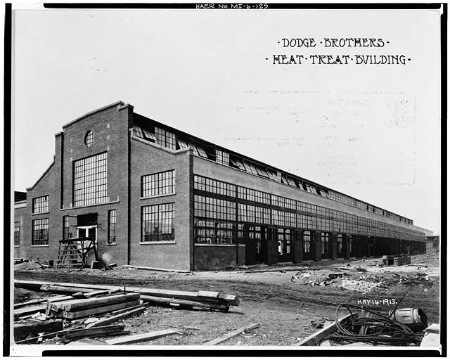 Dodge Hamtramck Plant HEAT TREAT BUILDING #1, SOUTHEAST ELEVATION, 1913