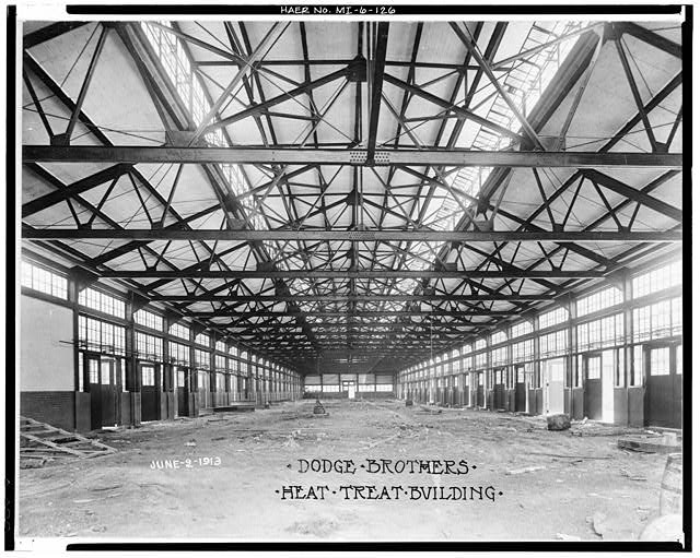 Dodge Hamtramck Plant HEAT TREAT BUILDING #1, VIEW SOUTH, 1913