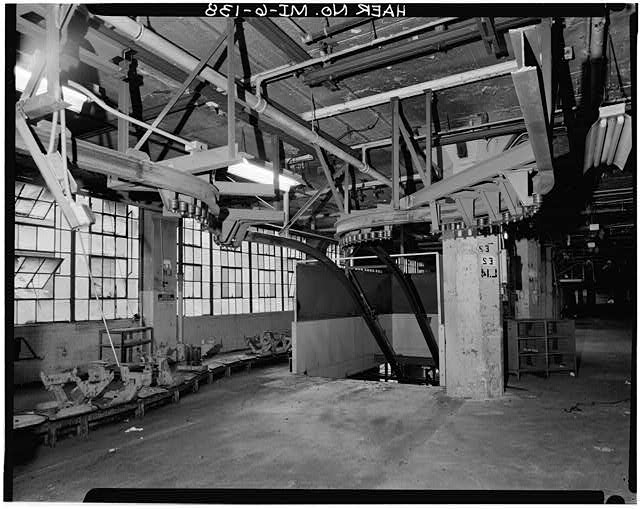 Dodge Hamtramck Plant MAIN BUILDING #2, SECOND FLOOR VIEW SOUTH, 1980