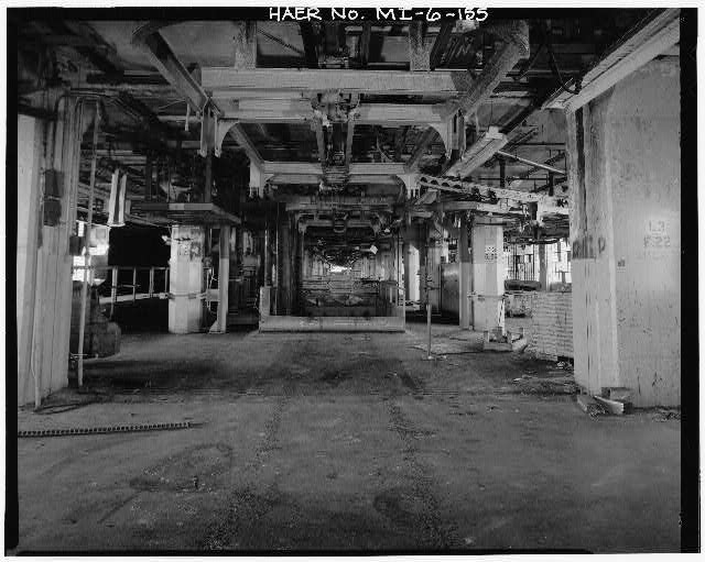 Dodge Hamtramck Plant MAIN BUILDING #4, THIRD FLOOR, VIEW SOUTH, 1980