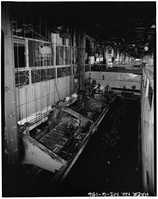 Dodge Hamtramck Plant MAIN BUILDING #4, THIRD FLOOR, BODY DROP, VIEW SOUTH, 1980