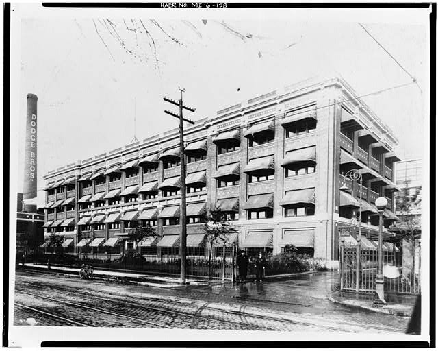 Dodge Hamtramck Plant OFFICE BUILDING, WEST AND SOUTH ELEVATIONS, 1914