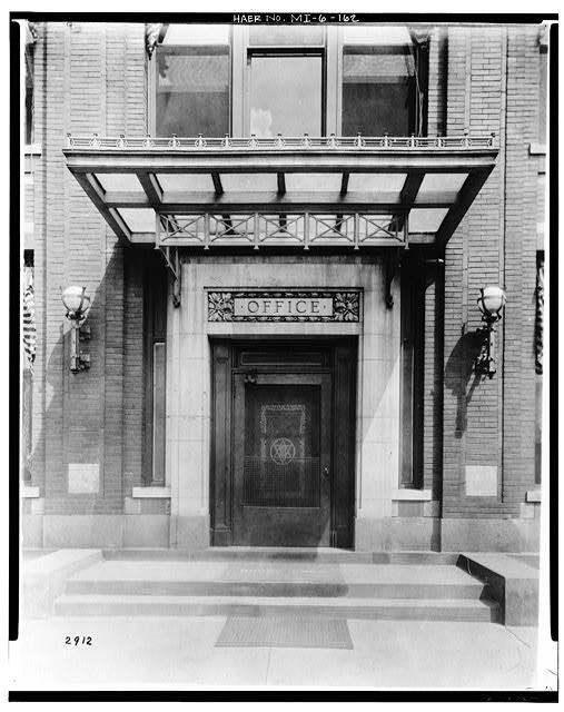 Dodge Hamtramck Plant OFFICE BUILDING, MAIN ENTRANCE DOOR, 1915