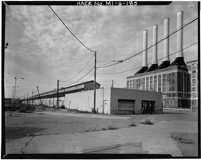 Dodge Hamtramck Plant POWER HOUSE, AND TEST BUILDINGS, 1980