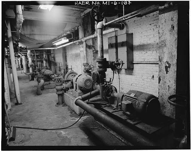 Dodge Hamtramck Plant POWER HOUSE, BASEMENT, 1980