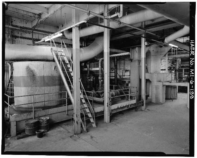 Dodge Hamtramck Plant POWER HOUSE, FIRST FLOOR, VIEW SOUTH, 1980