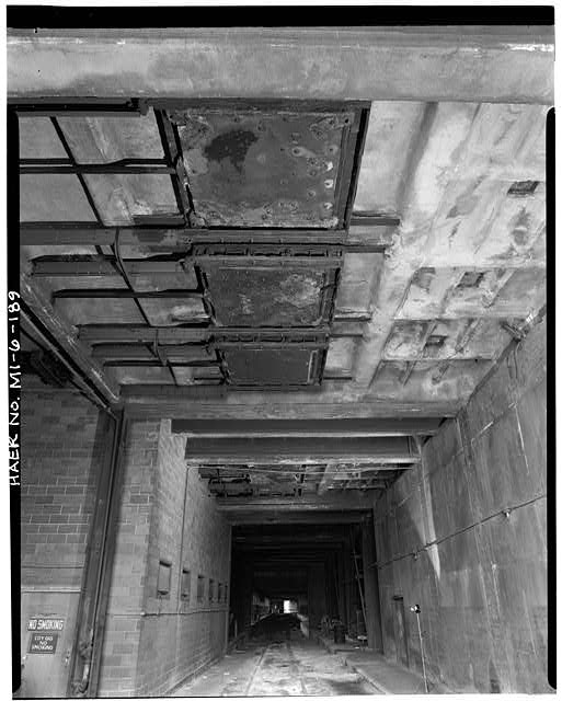 Dodge Hamtramck Plant POWER HOUSE, FIRST FLOOR, ASH DROPS, VIEW WEST, 1980