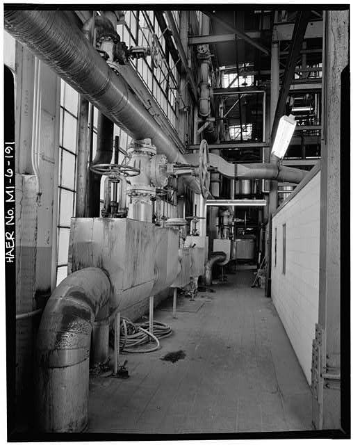 Dodge Hamtramck Plant POWER HOUSE, SECOND FLOOR, VIEW WEST, 1980