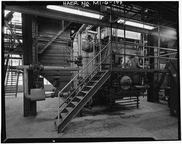 Dodge Hamtramck Plant POWER HOUSE, THIRD FLOOR, ONE OF FOUR BOILERS, VIEW NORTH, 1980