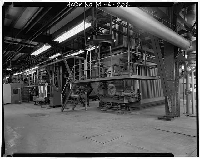 Dodge Hamtramck Plant POWER HOUSE, FOURTH FLOOR, VIEW WEST, 1980