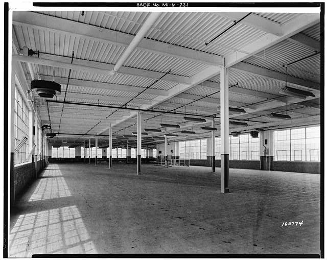 Dodge Hamtramck Plant PRESSED STEEL BUILDING, ADDITION, SEVENTH FLOOR, 1945