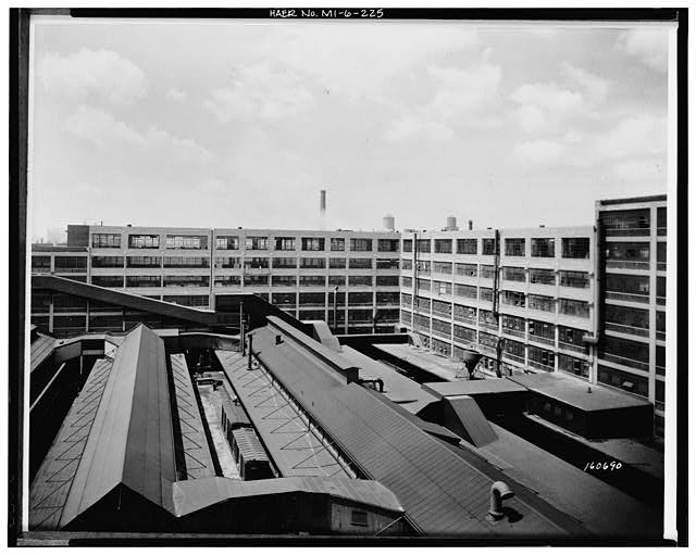 Dodge Hamtramck Plant PRESSED STEEL BUILDING, ADDITION, VIEW NORTHWEST, 1945