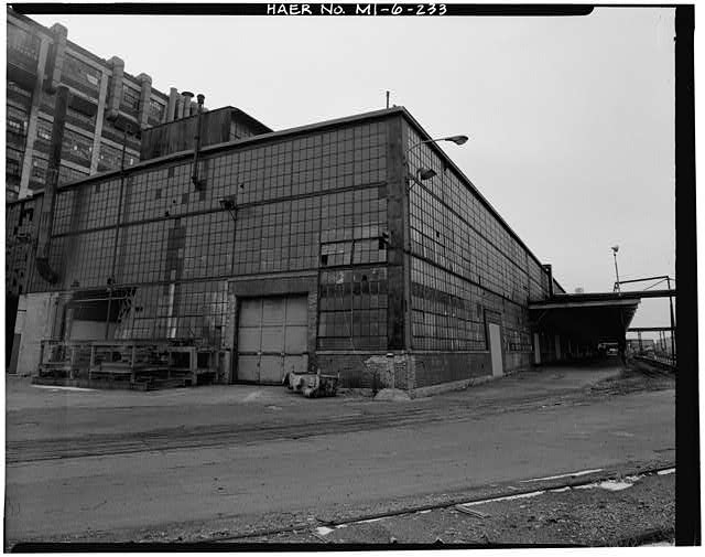 Dodge Hamtramck Plant PRESSED STEEL STORES BUILDING, EAST ELEVATION, 1980