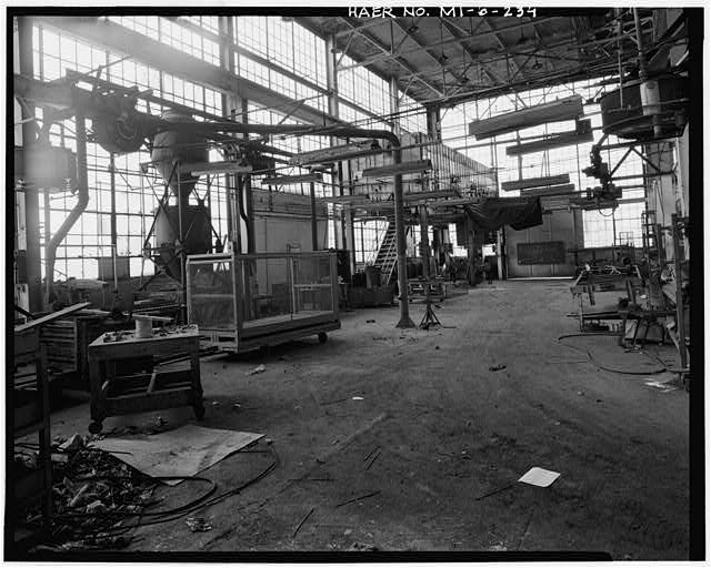 Dodge Hamtramck Plant PRESSED STEEL STORES BUILDING, INTERIOR VIEW NORTH, 1980