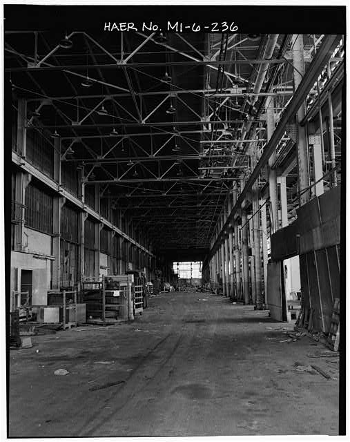 Dodge Hamtramck Plant PRESSED STEEL STORES BUILDING, VIEW SOUTHWEST, 1980