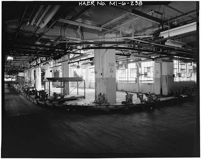 Dodge Hamtramck Plant WAREHOUSE BUILDING, SECOND FLOOR, VIEW SOUTH, 1980