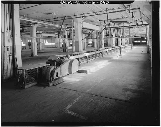 Dodge Hamtramck Plant WAREHOUSE BUILDING, FOURTH FLOOR, VIEW NORTHEAST, 1980
