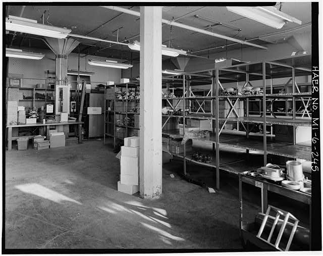 Dodge Hamtramck Plant WAREHOUSE BUILDING, EIGHTH FLOOR, STORE, VIEW EAST, 1980