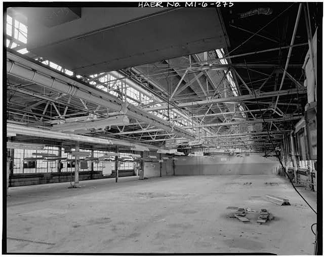Dodge Hamtramck Plant DRIVE-WAY GARAGE, FIRST FLOOR, VIEW SOUTHWEST, 1980