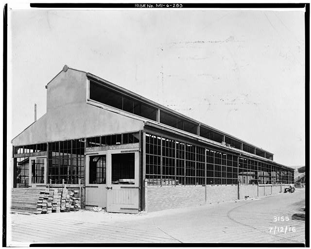 Dodge Hamtramck Plant BATTERY BUILDING, VIEW NORTHEAST, 1916