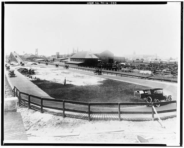 Dodge Hamtramck Plant TEST TRACK, NORTH OF FOUNDRY, VIEW WEST, 1915