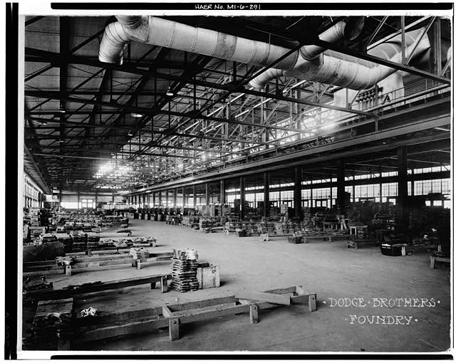 Dodge Hamtramck Plant FOUNDRY, VIEW SOUTH, 1915