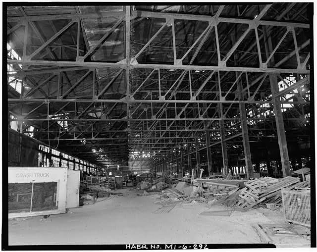 Dodge Hamtramck Plant FOUNDRY, FIRST FLOOR, VIEW NORTH, 1980