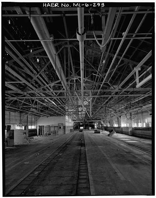 Dodge Hamtramck Plant TEST BUILDING, FIRST FLOOR, VIEW WEST, 1980