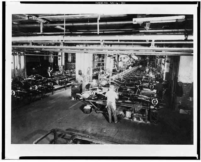 Dodge Hamtramck Plant REAR AXLE, FINAL ASSEMBLING, 1934