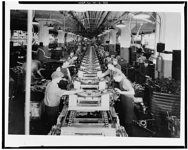 Dodge Hamtramck Plant ASSEMBLING OF STEERING LINKAGE, 1934
