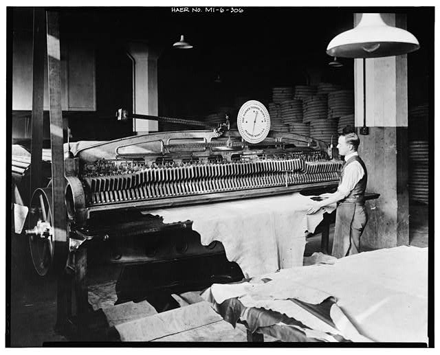 Dodge Hamtramck Plant MEASURING HIDES BY MACHINERY, 1915